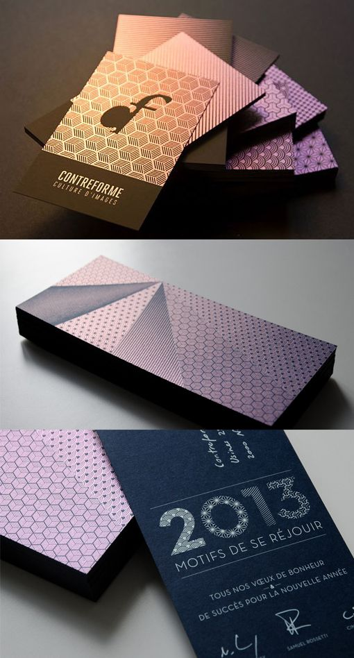 Amazing screen printed iridescent business cards for Iridescent business cards