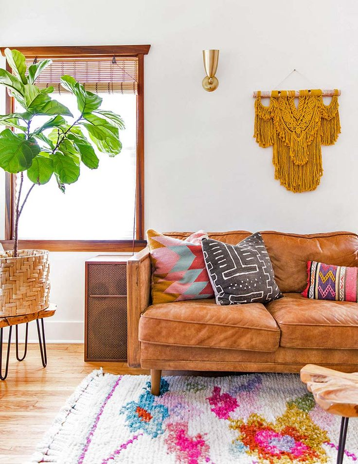 """Couple with decorating style they dub """"modern psychedelic cowboy"""" meets """"nature boy"""" reno on Design*Sponge"""