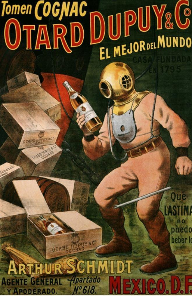 Cognac Otard Dupuy & Co (1910) vintage advertisement