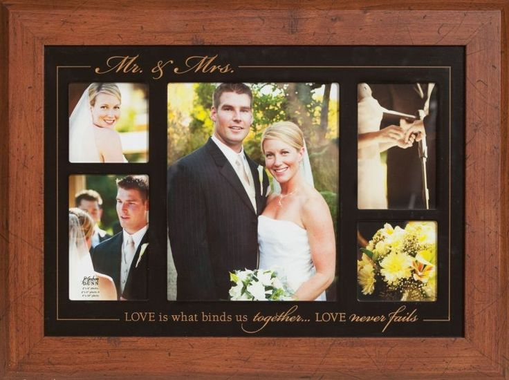 display an assortment of your wedding photos or other couples pictures in this
