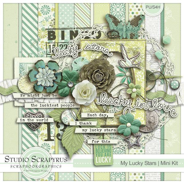 My Lucky Stars | Mini Kit by Scrapyrus Designs