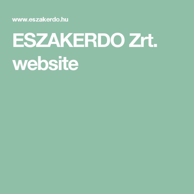ESZAKERDO Zrt. website