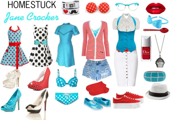 """Homestuck Fashion: Jane Crocker"" by khainsaw on Polyvore"
