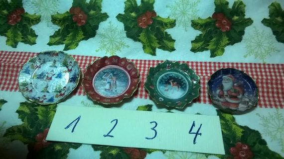 Traditional Christmas paper plate Miniatures doll's by minis4you