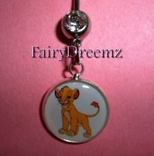 disney Belly Button Piercings | SIMBA from Lion King Cub Cat Disney Belly Ring