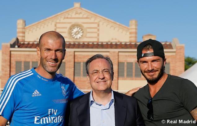 Zidane, Florentino & Beckham.