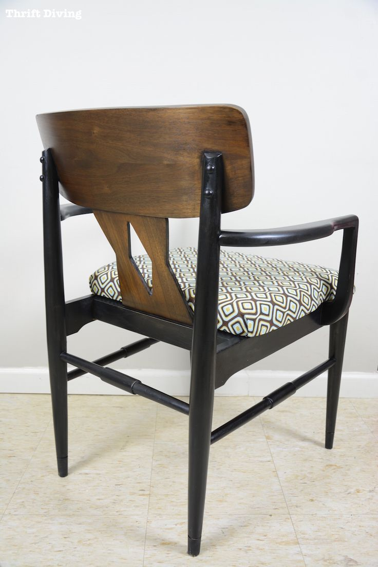 Baker dining chairs archives simplified bee - Mid Century Modern Chair Makeover Part 2