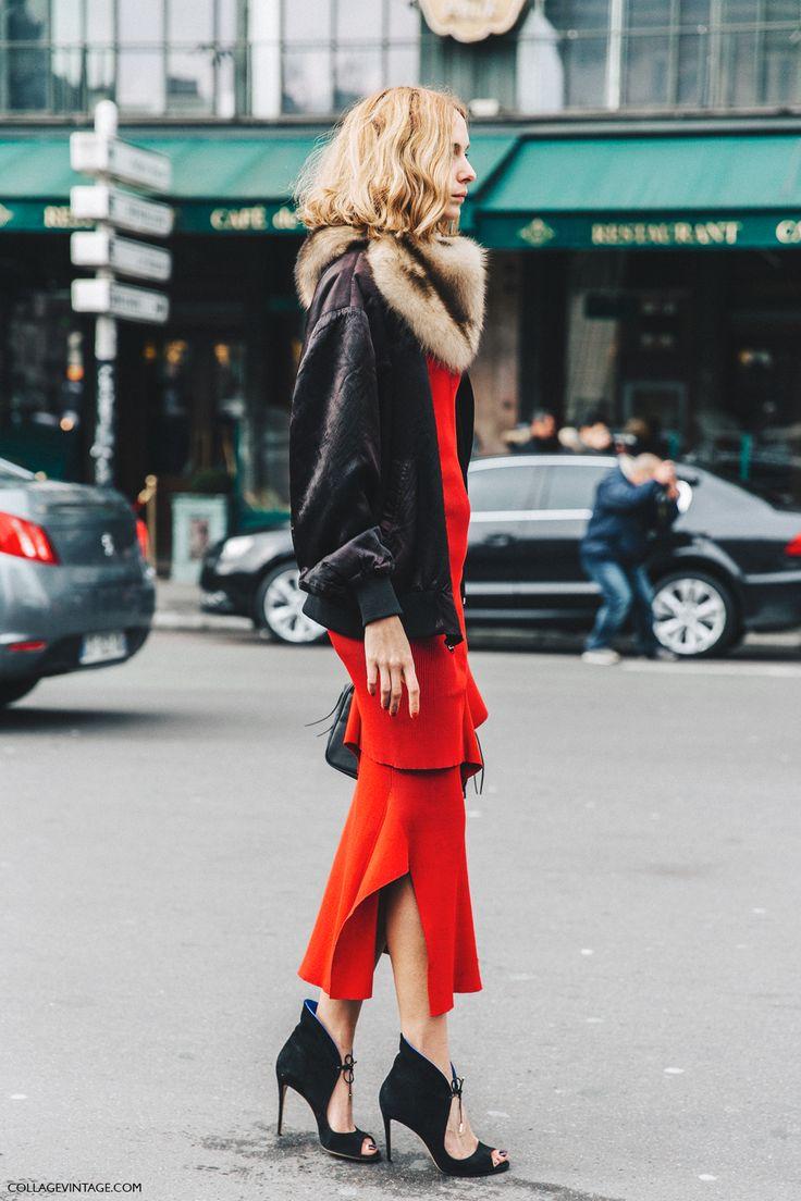 PFW-Paris_Fashion_Week_Fall_2016-Street_Style-Collage_Vintage-Stella_McCartney-Red-