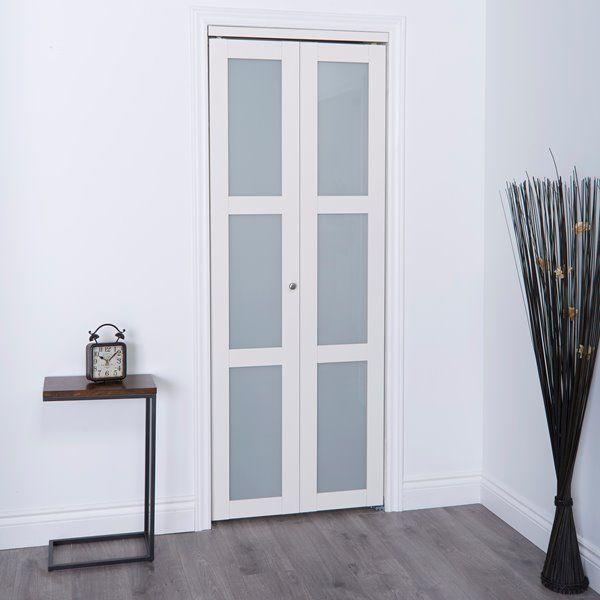 Reliabilt 30 In X 80 In Off White Frosted Glass Closet Door Rona Closet Doors Room Divider Doors Interior Closet Doors