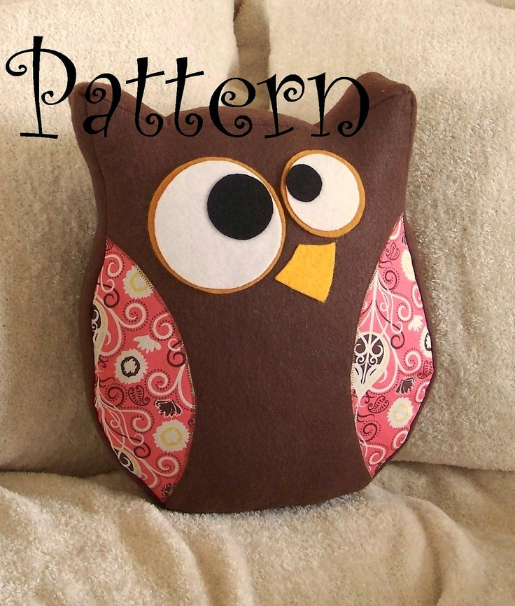 Owl Plush PDF Hooter the Owl Pillow PDF Tutorial and by bedbuggs. Might work for the heat pad.