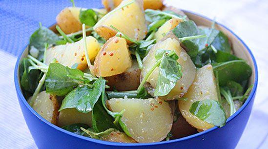 Potato-And-Watercress Salad with Mustard Dressing: Picnic Favorite, Potato Salad, Place, Yukon Gold Potatoes, Chief