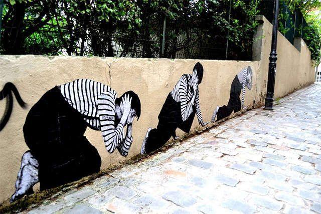 Extreme Site-Specific Art : Wheatpaste Street Art