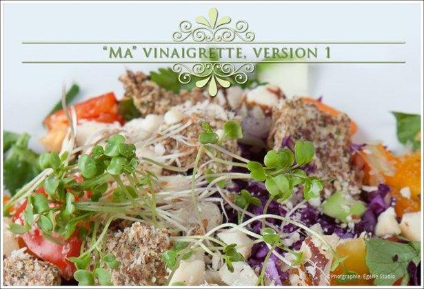 sauce à salade vinaigrette jacynthe rené beurre d'amande