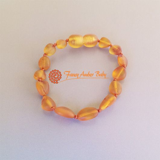 Fancy Amber Baby - Cognac Beans Bracelet