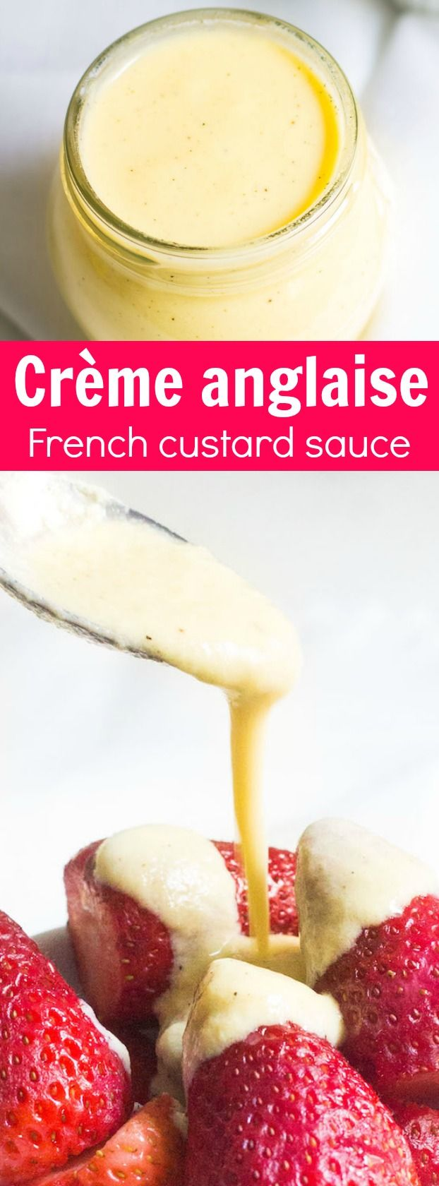 Crème anglaise: a French custard often served as a dessert sauce for cakes and pastries. Recipe via MonPetitFour.com