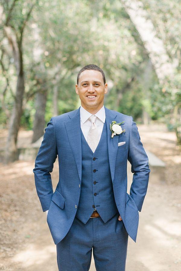 Romantic Descanso Gardens Wedding Showit Blog Wedding Suits Men Blue Groomsmen Suits Blue Suit Wedding