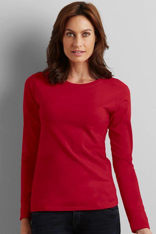 Tricou cu mânecă lungă pentru dame Softstyle® Gildan: din 100% 100% bumbac jerseu care nu se strânge. #tricouri #personalizate #brodate #imprimate #gildan #promotionale