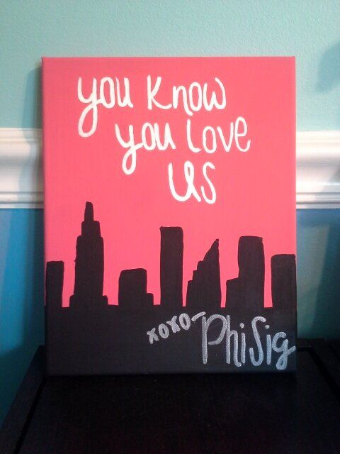 Phi Sigma Sigma Gossip Girl inspired canvas