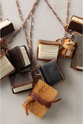 One Lucky Day: Unusual Books: Booklov Bookjewelri, Charms Necklaces, Books Charms, Strands Necklaces, Notebooks Necklaces, Unusual Books, Anthropologie Com, Good Books, Tiny Books