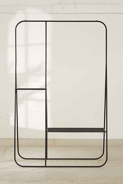 double clothing rack in black