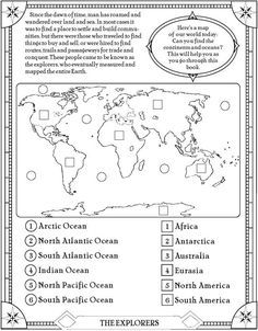 The 25 best continents and oceans ideas on pinterest continents find the oceans and continents page free printable elementary social studies gumiabroncs Gallery