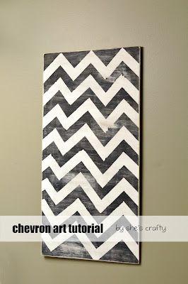 DIY chevron art for gallery wall