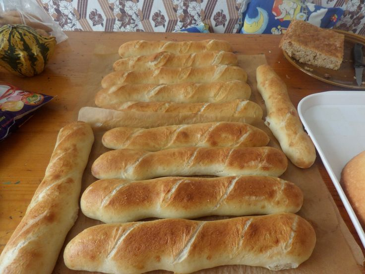 Domaci bagetky podle receptu z Pinterestu