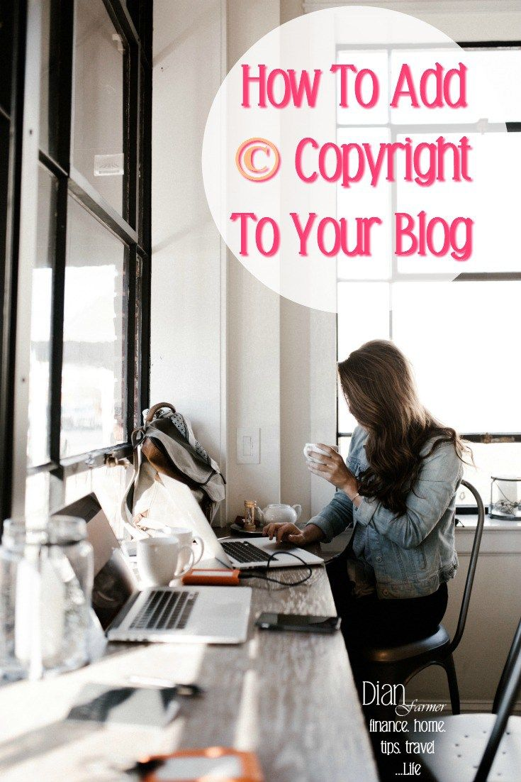 Blogging for beginners.  Need to add copyright footer code to your Wordpress blog?  Learn how to add the copyright symbol in your blog footer design, how to write, & add the code for your footer copyright.
