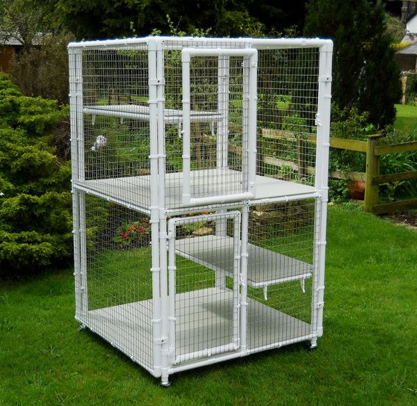 25 best ideas about cat cages on pinterest outside cat for Pvc rabbit cage