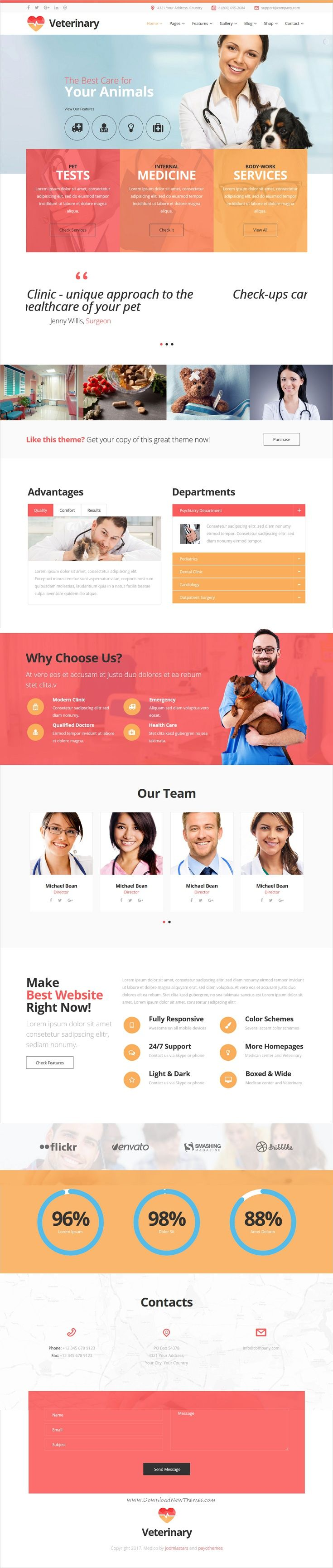 Medico is clean and modern design responsive #Joomla template for #webdesign medical and #veterinary clinics website download now➩ https://themeforest.net/item/medico-medicalveterinary-multipurpose-business-joomla-theme/19879895?ref=Datasata