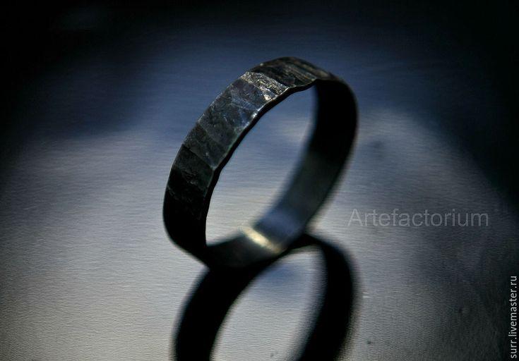 Купить Кованое кольцо № 102 - темно-серый, кольцо в подарок, кольцо себе