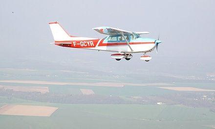 Vol découverte aux commandes d'un avion Cessna 152 ou 172 dès 99 € avec Air Loisirs International: #BOOS 99.00€ au lieu de 201.00€ (51% de…