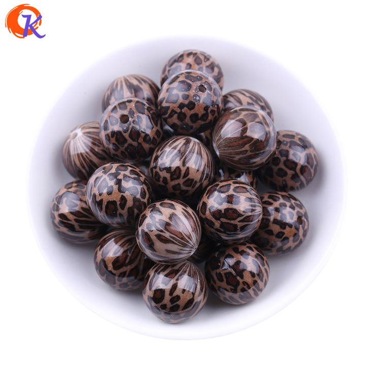 Free Shipping 20MM 100pcs/lot Brown Color Acrylic Leopard Print Beads For Chunky Necklace Making CDBD-601388 #Affiliate