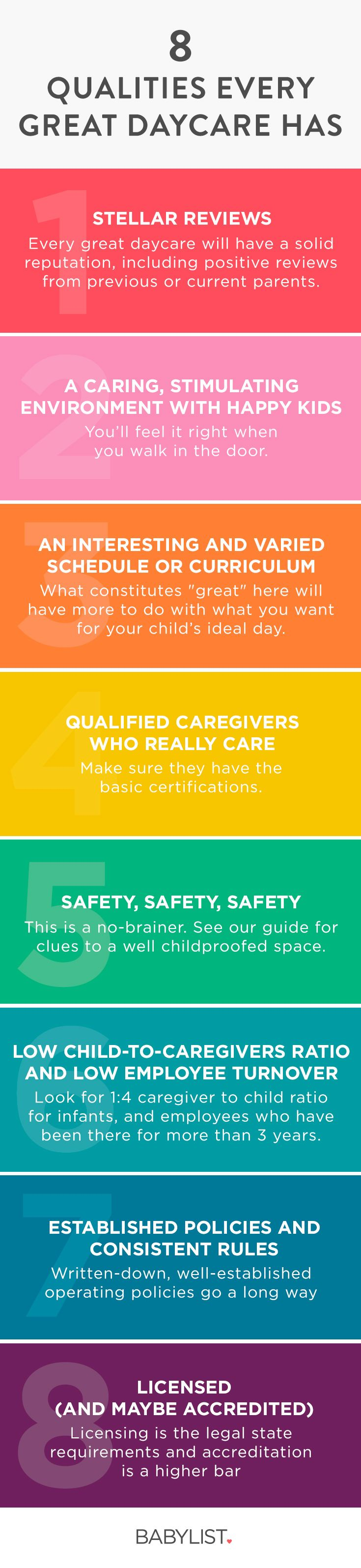 8 Important Qualities of a Great Daycare