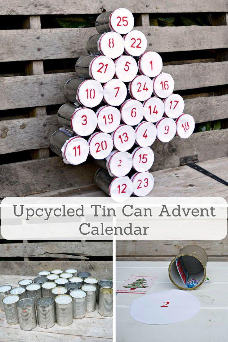 Make a rustic advent calendar for the