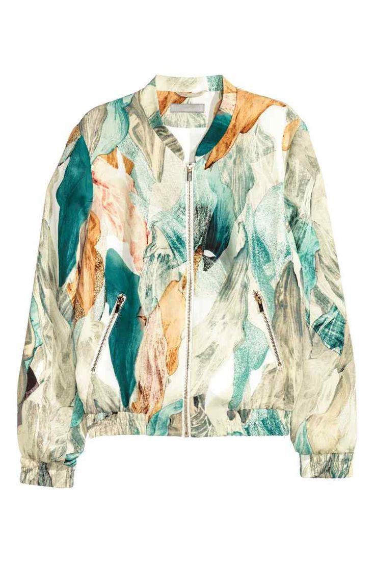 Patterned bomber jacket | H&M