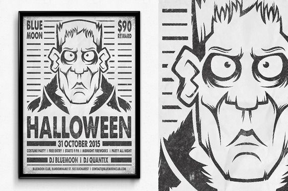 Wanted Halloween Poster by SNK's on Creative Market