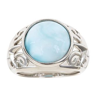 Ladies Sterling Silver Larimar Ring