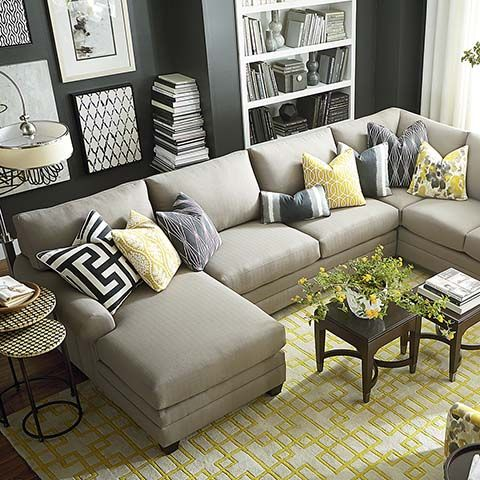 U-Shaped Sectional.  This is a Bassett collection that comes in many combinations.  It can be just a sofa, an L-shaped sectional, a sofa with just the chaise piece, etc.  It's shown in the stock color but Bassett has 100's of other color options, and/or we can use our own fabric from another source.