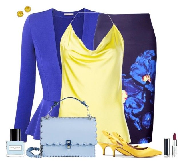 Set 2276 by lapshi4ka on Polyvore featuring Cushnie Et Ochs, WithChic, Tabitha Simmons, Fendi, Givenchy and Marc Jacobs