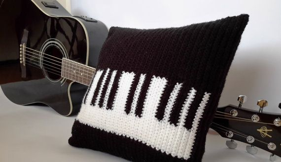 PIANO Crochet Pillow Art Decorative Pillow Pillow