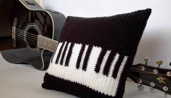 PIANO Crochet Pillow Art Decorative Pillow Pillow