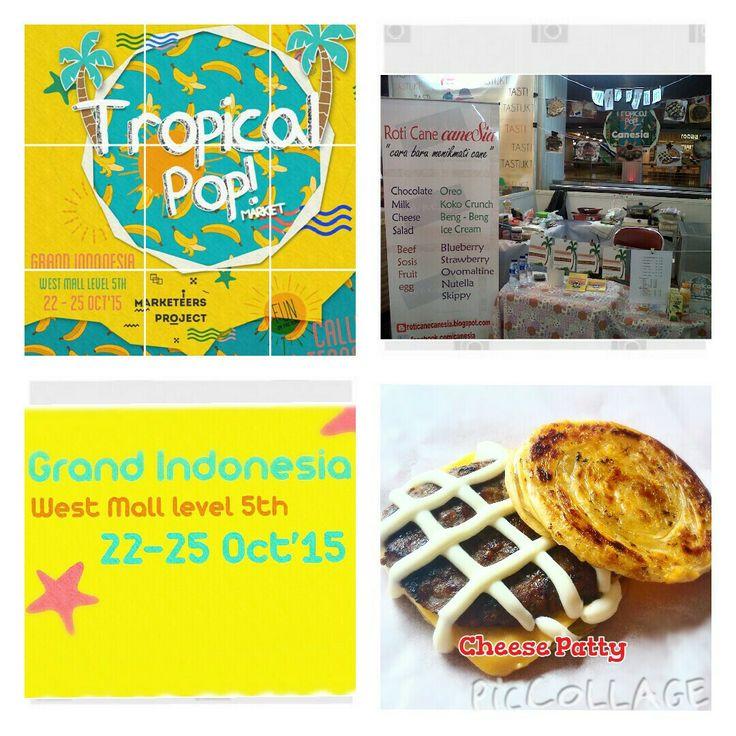 caneSia at Tropical Pop Market. 22-25 Oct. 2015, Grand Indonesia. #canesia #roticane #roticanai #rotimaryam #cane #canai #deliveryorder #onlineshop #indonesia #bazaar #event #jakartabazzar #bazaarjakarta  https://www.instagram.com/p/9NTw2NxfbD/