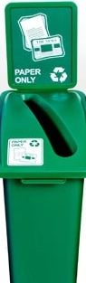 Our paper recycling bins are great for copy areas and non-confidential paper