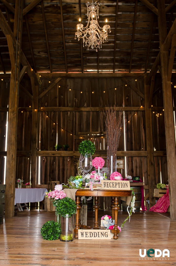beautiful wedding wine barn at over the vines edgerton
