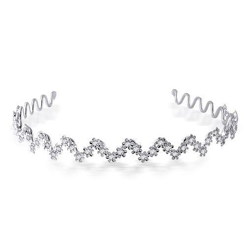 Wavy Flower Bridal Tiara Headband