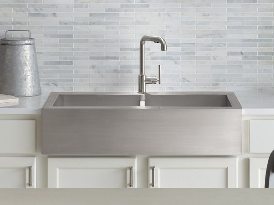 Vault top mount stainless steel apron front this is my sink and i love it.