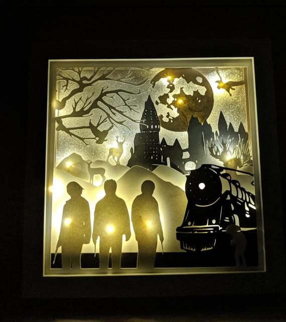 Pin By Eliska Rehakova On Remesla In 2021 Harry Potter Light Harry Potter Decor Shadow Box Art