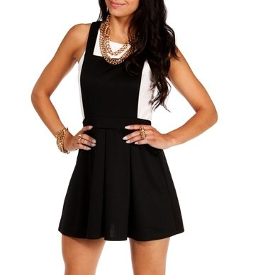 Black dress overalls urban