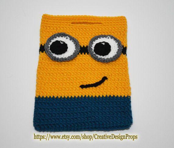Crochet Minion Bag Minions handbag by CreativeDesignProps on Etsy